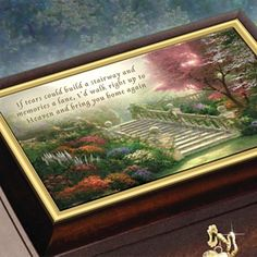 Thomas Kinkade Always In My Heart Personalized Heirloom Music Box