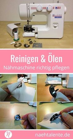 Nähmaschine reinigen und ölen - Tipps zur Pflege & Wartung zuhauseCleaning and oiling the sewing machine ❤ Profitips for proper cleaning, care and maintenance of the sewing machine at home. of sewing problems can be eliminated with care. Baby Knitting Patterns, Sewing Patterns Free, Free Sewing, Sewing Projects For Beginners, Knitting For Beginners, Diy Projects, Sewing Hacks, Sewing Tutorials, Diy Tutorial