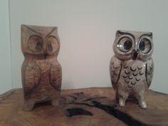 Seramikle ahşabın kardeşliği.... satın aldığımız seramik baykuş biblosuna eşimin ahşap oyma sanatıyla yaptığı ikizi...