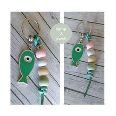 Schlüsselanhänger - *PetriHeil* KCA 40 FISCH PASTELL SCHLÜSSELANHÄNGER - ein Designerstück von pomp-and-jewels bei DaWanda