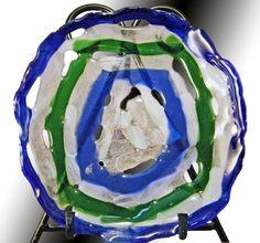 """""""Onda"""" - tijelinha vasada em vidro artesanal importado.  Peça única e assinada.    R$240.00 Clique na foto p/ entrar na página da peça e ver mais fotos e informações como tamanho."""