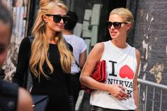 The Hilton sisters #NYFW #streetstyle Photo by Michael Tornato for Fashiolista \\ www.thetrendydwarf.blogspot.com