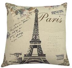 Urban Loft Eiffel Throw Pillow