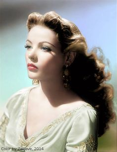 Gene Tierney - love the hair and photograph