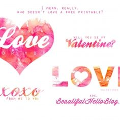 Free Valentines Day cards and tags #valetineprintables ishareprintables.com