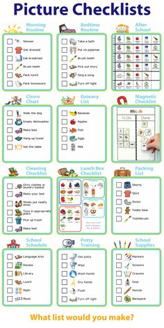 I now offer a Picture Checklists bundle! It gives you unlimited access to more than 1000 clipart images to use with the 12 list-making activities on The Trip Clip website. Make a morning routine, a chore chart, a bedtime routine, an after school checklist, a grocery list, a magnetic checklist, a cleaning checklist, a lunch box packing checklist, a school schedule, personal care checklists, and a school supplies shopping list!