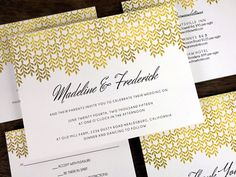 empapers GlamGold Hochzeitsset Papeterie