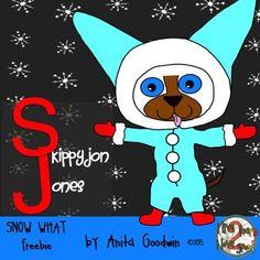 Skippyjon Jones Snow What Freebie