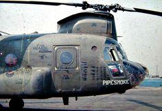 Vietnam and the glory days of helicopter nose art.  #VietnamWarMemories