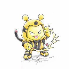 """When I grow up"" Elekid in a Electivire onsesie"