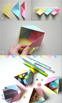 ▷ 1001 + DIY ideas to learn the art of easy origami paper folding, Origami And Kirigami, Paper Crafts Origami, Origami Art, Diy Paper, Origami Ideas, Origami Bookmark, Origami Flowers, Oragami, Origami Shapes