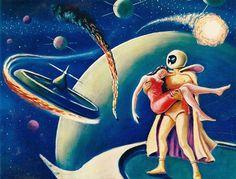 "Alternative poster image from film ""the mysterians"" 1959 - Ishirō Honda"