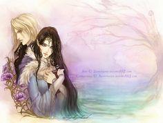 """Lyanna Stark and Rhaegar Targaryen zephyrhante: """" Lliane et Azrayen by *Zephyrhant Joyeux Anniversaire, Ama!! """""""