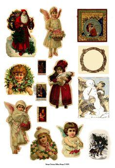 vintage+scrapbook+clipart | VINTAGE CHRISTMAS CUTOUT PAPER