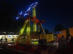 FRANTIC at night Amusement Park, Roller Coaster, Ferris Wheel, Attraction, Night, Places, Fun, Travel, Viajes