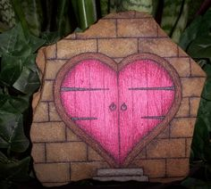 'The Door To My Heart - OOAK Hand Painted Rock Art' is going up for auction at  3pm Wed, Jan 9 with a starting bid of $15.