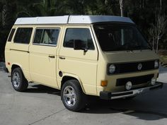 Westfalia - used to have one that looked just like this.number 2 - I think. T3 Bus, Transporter T3, Volkswagen Westfalia, Vw Vans, Vw T, Unique Cars, Number 2, Westies, Campervan
