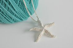 Sterling Silver Starfish Pendant by 2BeadingHeartsJewels on Etsy, $120.00