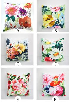 Diy Outdoor Cushions Waterproof Throw Pillows Ideas For 2019 Couch Cushion Covers, Diy Pillow Covers, Diy Pillows, Decorative Throw Pillows, Watercolor Fabric, Fabric Painting, Floral Watercolor, Waterproof Cushions, Floral Cushions
