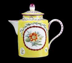 Delightful Antique German Meissen Miniature Porcelain Teapot 19th C.