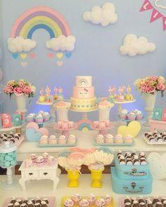 Vintage Birthday Parties, Carnival Birthday Parties, Circus Birthday, Circus Party, Unicorn Birthday Parties, Unicorn Party, Birthday Party Themes, Rain Baby Showers, Carnival Baby Showers