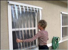 Clear Diy Plastic Hurricane Shutters Diy Pinterest