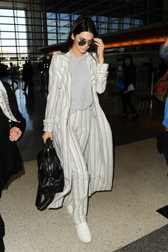 Kendall Jenner's Pajama-Inspired Suit
