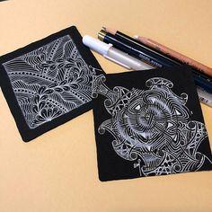 #zentangle #pattern #patternart #tangle #penart #whitepen #sakurajellyroll #illustration #enjoy #ゼンタングル #パターンアート #ペン画 #ホワイトペン #横浜 #マインドフルネス #楽しんでね