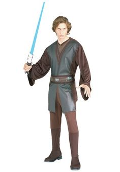 Our Anakin Skywalker costume is an adult Star Wars Halloween costume for men. You'll be all set to take part in the Clone Wars!