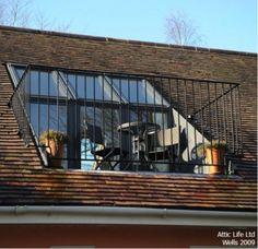 Velux Roof Terrace Via Atticlife Co Uk Attic Loft, Loft Room, Bedroom Loft, Attic House, Bedroom Balcony, Attic Ladder, Attic Office, Bedroom Small, Trendy Bedroom