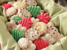 Recipe Photo- Spritz cookies made with brown sugar instead of white sugar.