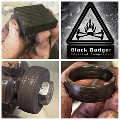 Sidecut Solid Carbon Fiber Ring by Black Badger Composites