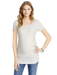 64432f566fe3a Motherhood Maternity Jessica Simpson Short Sleeve Scoop Neck Striped Maternity  Top