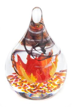 Caithness Limited Edition Hot House of Passion Glass Paperweight