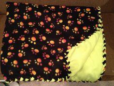 #Paw #Print #Fleece #Blanket #neon #yellow #black #multicolor Jan.2014