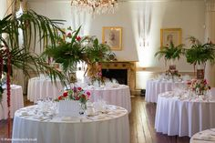 Gloriosa Lily, Country House Wedding Venues, London Bride, Tall Vases, Lilies, Wedding Flowers, Exotic, Palm, Table Settings