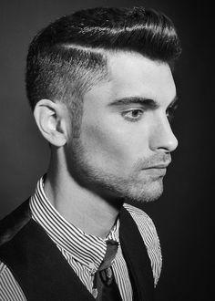 Cortes de pelo y peinados para hombres primavera verano 2016: Flequillo con raya al lado