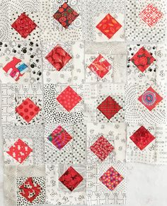 Cute Quilts, Lap Quilts, Scrappy Quilts, Modern Quilt Blocks, Modern Quilting, Low Volume Quilt, Asian Quilts, Black And White Quilts, Scrap Fabric Projects