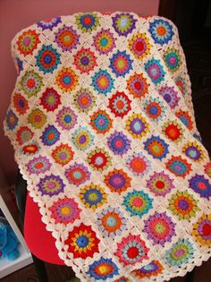 Crocheted Blanket || This has a great vintage quality to it.