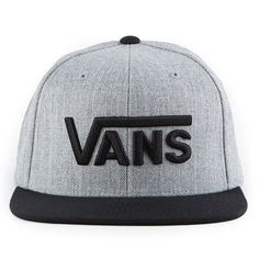 The Vans Drop V Snapback Hat in the Heather Grey/Blue Colorway is a 80%…
