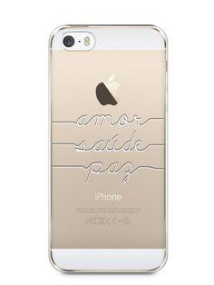 Capa Iphone 5/S Amor Saúde Paz - SmartCases - Acessórios para celulares e tablets :)