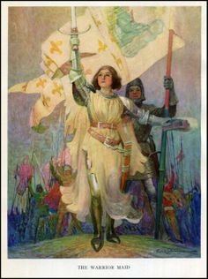 Prolific like Wyeth, when Schoonover died at the age of 94 he had over two thousand illustrations to his credit. Joan of Arc was one of his classic subjects for a book in 1918