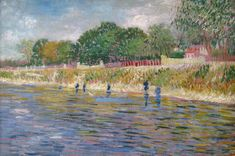 Art of the Day- Van Gogh, Bank of the Seine, May-June 1887. Oil on canvas, 32 x 46 cm. Van Gogh Museum, Amsterdam..jpg