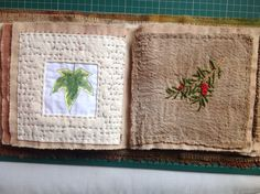 Fabric book pagee, Kate Cooke