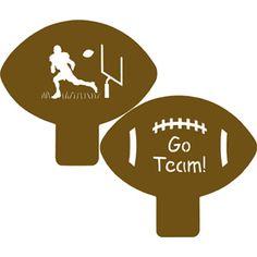 Football Cookie Stencils
