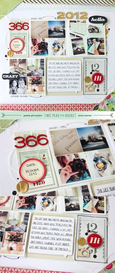 #scrapbooking page by Janna Werner for #2PeasinaBucket- love the neutral color palette