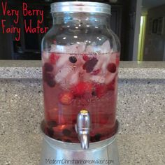 Very Berry Fairy Water - Also Known As Spa Water. Tastes awesome, No added sugar and the kid's LOVE it!