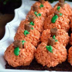 rice krispie pumpkins-cute and easy