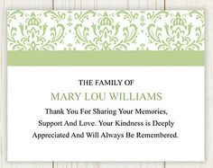How to Word Funeral Thank You Notes | Funeral and Note