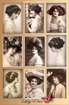 use for printies--collage vintage fotos antiguas  JOANNE